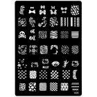Šablóna s vyrytými vzormi na pečiatkovanie nechtov - 006, XL