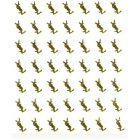 Samolepka 3D, zlatá - logo YVES SAINT LAURENT