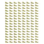 DIOR - zlaté 3D nálepky
