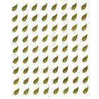 Zlaté listy - 3D nálepka