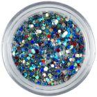 1mm farebné konfety - šesťhrany v zelenom prášku