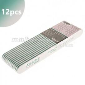 12ks - Pilník Profi Speedy biely so zeleným stredom, 180/180