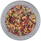 Holografické šesťhrany - 1mm konfety v tmavočervenom prášku