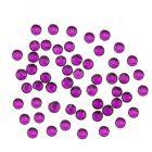 Nail art ozdoby 1,5mm - 90ks guľaté kamienky v sáčku, fialové