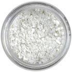 Malé konfety - biele štvorčeky