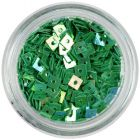 Ozdobné štvorčeky s dierkou - smaragdovo zelené