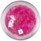 Ozdoba na nechty - svetloružové štvorčeky s dierkou