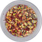 Farebné konfety, 1mm - šesťhrany v červenom prášku