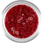 Priehľadné štvorčeky s dierkou - červené