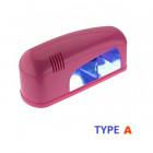 1-žiarivková UV lampa na nechty - sýto ružová, 9W