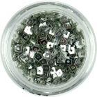 Malé štvorčeky s dierkou - strieborné