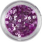 Malé štvorčeky s dierkou - ružovofialové