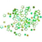 Flitre - hviezdičky kvietky, zelené - hologram