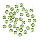 Zelené ozdoby na nechty, 1mm - guľaté kamienky v sáčku, 60ks