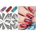 Luxusné vodné nálepky – Black & White Zebra Stripes