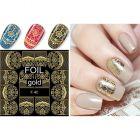 Luxusné vodné nálepky – Gold Lacy Pattern