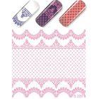 Luxusné vodné nálepky – Pink Lace
