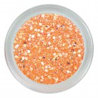 Fluorescenčný glitrový prášok - Neon Orange