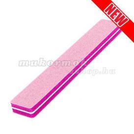 Penový pilník na nechty, ružový 220/280