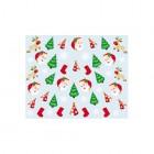 Nálepky na nechty s vianočným motívom - 042