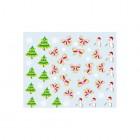 Nálepky na nechty s vianočným motívom - 041