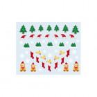 Nálepky na nechty s vianočným motívom - 035