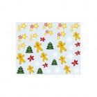 Nálepky na nechty s vianočným motívom - 032