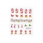 Vodné nálepky na nechty s vianočným motívom - 027