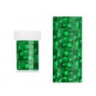 Ozdobná fólia na nechty - zelená s odleskami nepravidelných tvarov