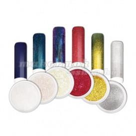 Ozdobný prášok - Sada farebných chrome práškov na nechty č. 1