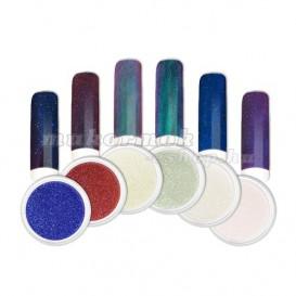 Ozdobný prášok -  Sada farebných mirror práškov č. 1
