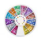 Nail art ozdoby – guľaté kamienky 2mm – rôzne farby