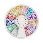Nail art ozdoby – guľaté kamienky 1,5mm – rôzne farby