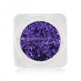 Ozdoby na nechty – kolieska v metalickej farbe - fialová
