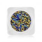 Ozdoby na nechty – kolieska v metalickej farbe - zlatí, tyrkysová, modrá