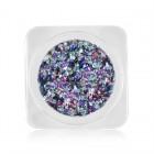 Ozdoby na nechty – kolieska v metalickej farbe – svetlomodrá, fialová, ružová