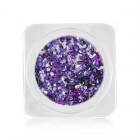Ozdoby na nechty – kolieska v metalickej farbe – fialová, ružová, strieborná s hologramom