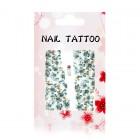 Luxusné vodné nálepky na nechty – Kvety – A165
