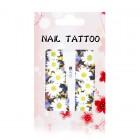 Luxusné vodné nálepky na nechty – Kvety – A870