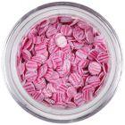 Flitre - svetloružové, ružové pásiky