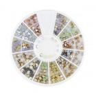 Nail art ozdoby – kamienky diamanty 2 a 3mm – rôzne farby s opálovým leskom