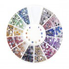 Nail art ozdoby – kamienky guľaté 2mm – rôzne farby s AB efektom