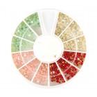 Nail art ozdoby – kamienky 2mm – rôzne farby s AB efektom