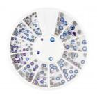 Nail art ozdoby – kamienky mix – modré