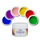 Farebná sada UV gélov na nechty 6ks
