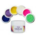 Farebná sada UV gélov na nechty 6ks - glitrová