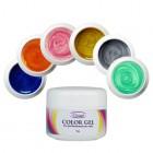 Farebná sada UV gélov na nechty 6ks - perleťová
