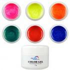 Sada farebných glitrových gélov - Fine, 6ks