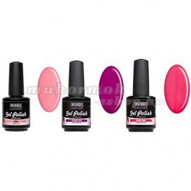 UV gél lak - sada 3ks - ružovo-fialová
