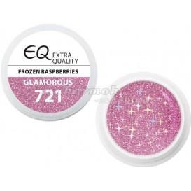 Extra Quality GLAMOURUS farebný UV gél - FROZEN RASPBERRIES 721, 5g